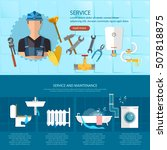 plumbing repair service ... | Shutterstock .eps vector #507818875