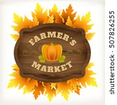 autumn farmer market wooden... | Shutterstock .eps vector #507826255