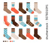 colorful pastel cute socks....   Shutterstock .eps vector #507831091