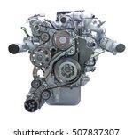 modern heavy duty truck diesel... | Shutterstock . vector #507837307