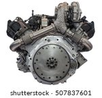 modern v6 six cylinder diesel... | Shutterstock . vector #507837601