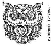zentangle inspired abstract owl ... | Shutterstock .eps vector #507838279