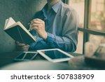 adult freelance businessman... | Shutterstock . vector #507838909