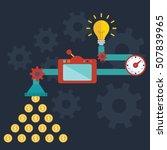 creative idea generator bright...   Shutterstock .eps vector #507839965
