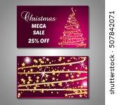 set of stylized christmas tree...   Shutterstock .eps vector #507842071