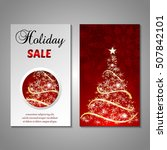set of stylized christmas tree... | Shutterstock .eps vector #507842101