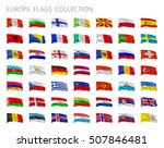 european flags collection.... | Shutterstock .eps vector #507846481