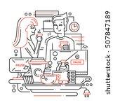 illustration of vector modern... | Shutterstock .eps vector #507847189
