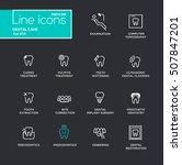 dental care   single line... | Shutterstock .eps vector #507847201