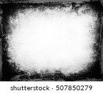 black and white grunge... | Shutterstock . vector #507850279