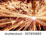 cnc laser plasma cutting of... | Shutterstock . vector #507850885