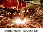 cnc laser plasma cutting of... | Shutterstock . vector #507851131