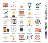 vector set of seo and...