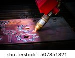 cnc laser plasma cutting of... | Shutterstock . vector #507851821