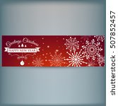 web banner with snowflakes.... | Shutterstock .eps vector #507852457