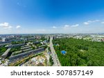 aerial city view with... | Shutterstock . vector #507857149