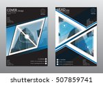 blue annual report brochure... | Shutterstock .eps vector #507859741