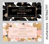 gift premium certificate. gift... | Shutterstock .eps vector #507860797