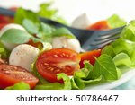salad with tomatoes and...   Shutterstock . vector #50786467