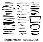 vector illustration. set of... | Shutterstock .eps vector #507867055