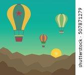 hot air balloons vectors flying ...   Shutterstock .eps vector #507871279