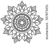 outline mandala. decorative...   Shutterstock .eps vector #507873451