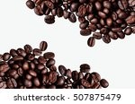coffee background or texture... | Shutterstock . vector #507875479