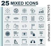 set of 25 universal editable...   Shutterstock .eps vector #507879295