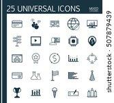 set of 25 universal editable... | Shutterstock .eps vector #507879439