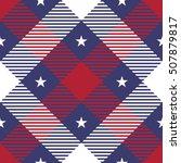 patriotic tartan seamless... | Shutterstock .eps vector #507879817