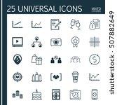 set of 25 universal editable... | Shutterstock .eps vector #507882649