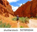 slot canyon  grand staircase... | Shutterstock . vector #507890044