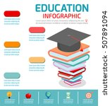 education infographic  books... | Shutterstock .eps vector #507891094