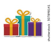 gift boxes icon | Shutterstock .eps vector #507898141