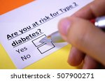 are you at risk of type 2... | Shutterstock . vector #507900271