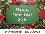 happy new year greeting card... | Shutterstock . vector #507900925