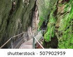 Gorge In The Pyrenees Mountain...