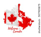 symbol  poster  banner canada.... | Shutterstock .eps vector #507905875