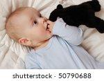 portrait of cute baby boy on... | Shutterstock . vector #50790688