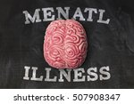 mental illness brain on a... | Shutterstock . vector #507908347