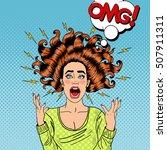 pop art aggressive furious... | Shutterstock .eps vector #507911311