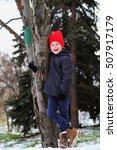 beauty little boy in trendy... | Shutterstock . vector #507917179