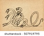 illustration with hand drawn...   Shutterstock . vector #507919795