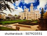 famous czech castle hluboka nad ... | Shutterstock . vector #507923551