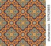 floral vector oriental pattern... | Shutterstock .eps vector #507925855