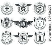 heraldic emblems isolated... | Shutterstock .eps vector #507926275