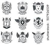heraldic signs vector vintage... | Shutterstock .eps vector #507926539
