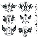 heraldic coat of arms... | Shutterstock .eps vector #507926659