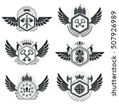 heraldic emblems isolated... | Shutterstock .eps vector #507926989