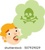smell. bad mouth breath. green...   Shutterstock .eps vector #507929029